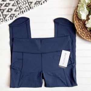 ATHLETA Blue Fitted Sculptek Athletic Pants
